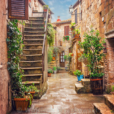 Italian Street Reference with Stairs
