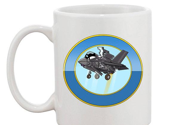 F35 mug blanc rondache