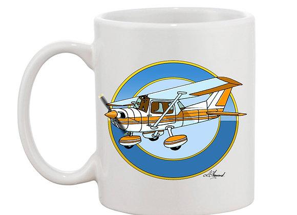 Cessna 150 mug blanc rondache