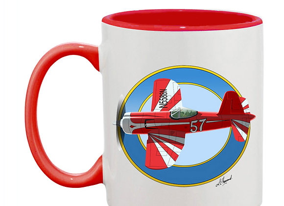 Super Corsair mug rouge rondache