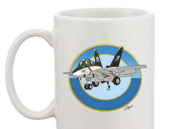 Grumman Tomcat (cartoon) mug blanc rondache