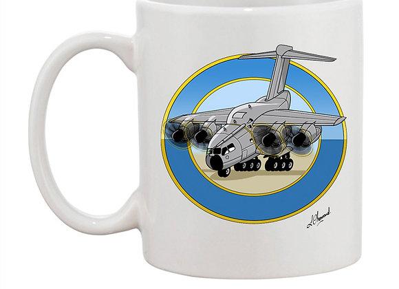 A 400 M mug blanc rondache