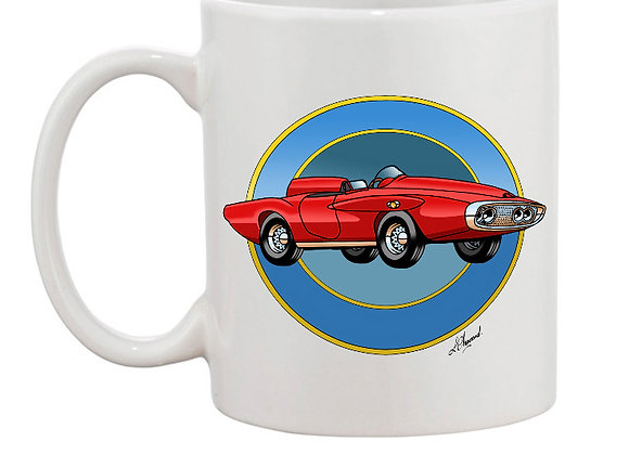 Plymouth XNR Ghia mug blanc rondache claire foncée