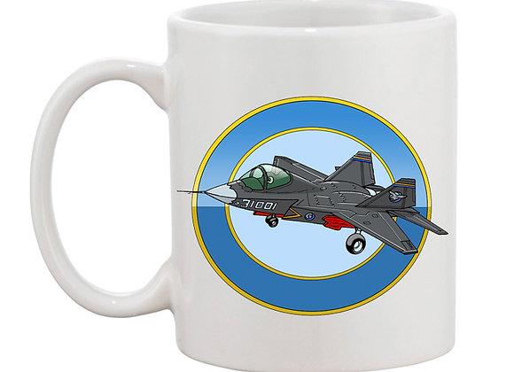 Shengyang J-31 mug blanc rondache