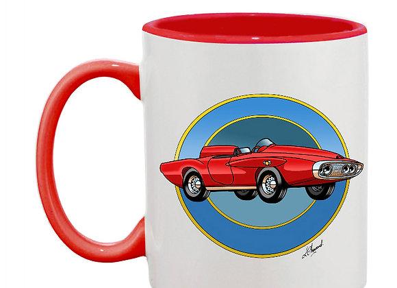Plymouth XNR Ghia mug rouge rondache foncée