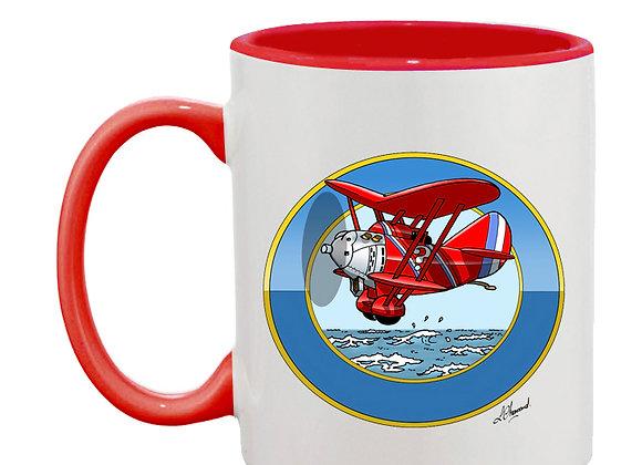 Breguet 19 mug rouge rondache océan
