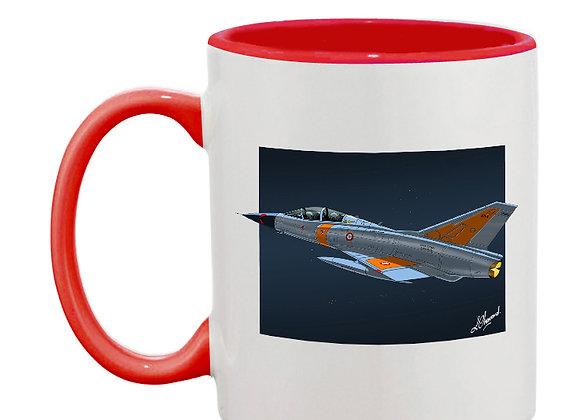 Mirage III essais en vol mug rouge carré nuit