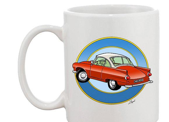Auto Union 1000 SP mug blanc rondache claire