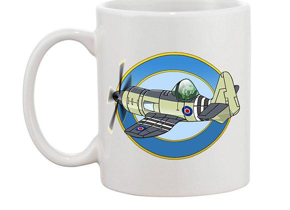 Hawker Sea Fury mug blanc