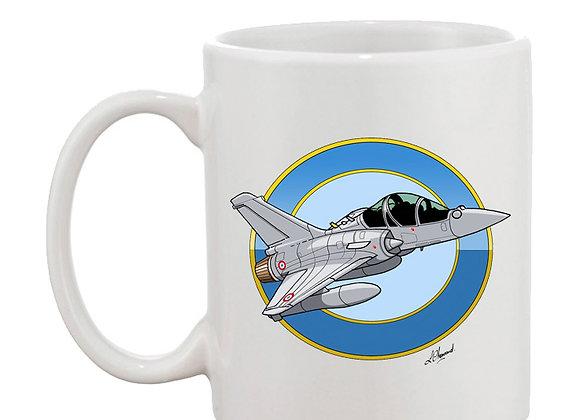 Mirage 2000 B 501 mug blanc rondache