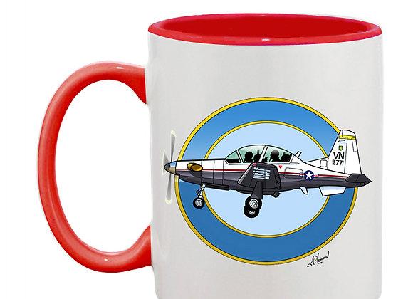 Beechcraft Texan II mug rouge rondache