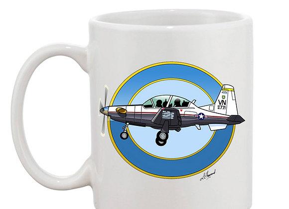 Beechcraft Texan II mug blanc rondache