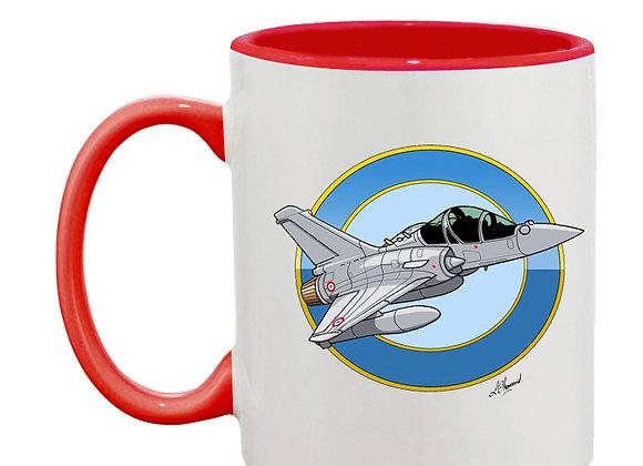 Mirage 2000 B 501 mug rouge rondache