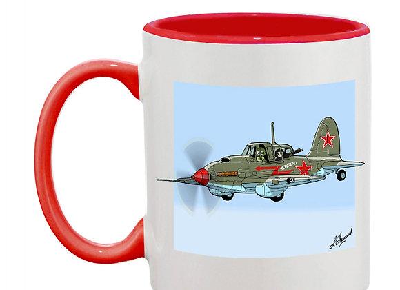 Sturmovik mug rouge vert carré