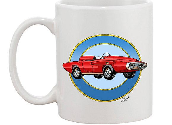 Plymouth XNR Ghia mug blanc rondache claire