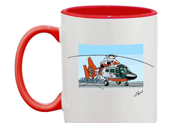 Dauphin mug rouge décor