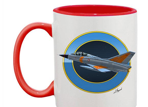 Mirage III essais en vol mug rouge rondache nuit