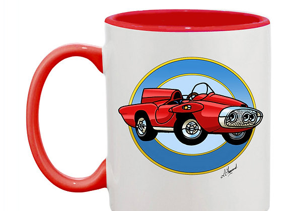 Plymouth XNR Ghia (cartoon) mug rouge rondache claire