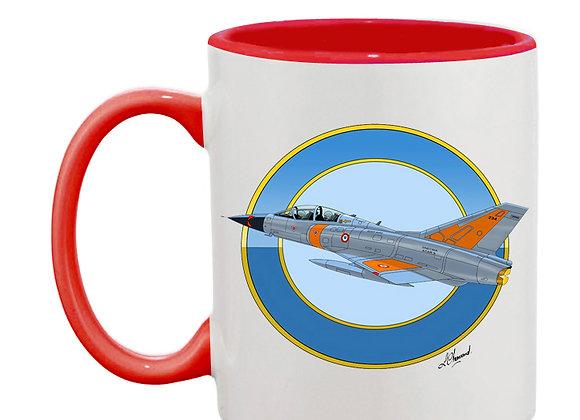 Mirage III essais en vol mug rouge rondache claire