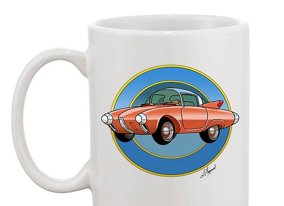 Oldsmobile Golden Rocket mug blanc rondache foncée