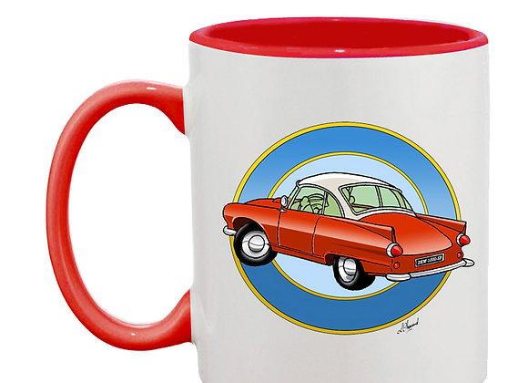 Auto Union 1000 SP mug rouge rondache claire