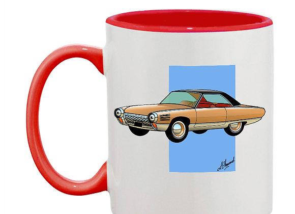 Chrysler turbine mug rouge carré bleu