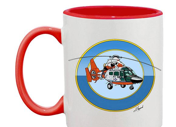 Dauphin mug rouge rondache