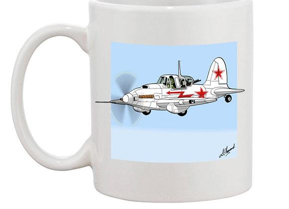 Sturmovik mug blanc blanc carré