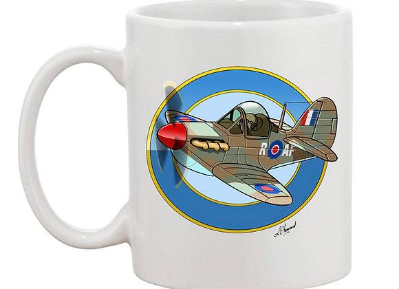 Spitfire MK1 mug blanc rondache