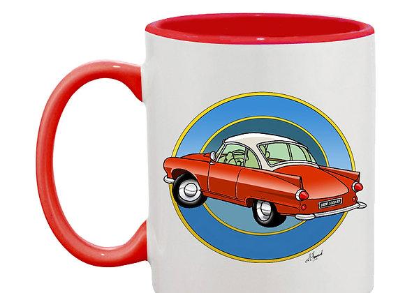 Auto Union 1000 SP mug rouge rondache foncée