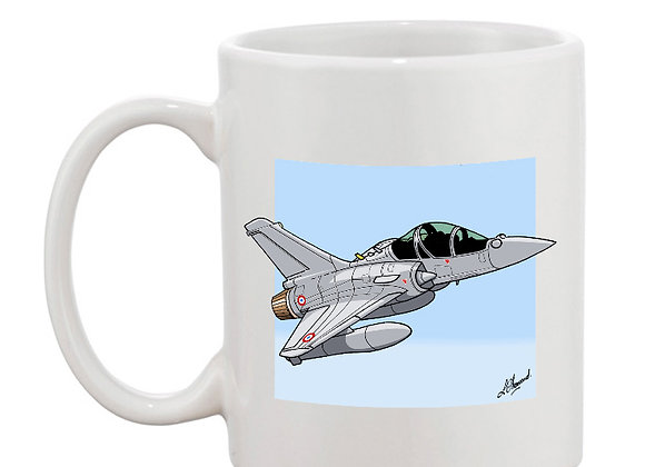 Dassault Mirage 2000 B 501 mug blanc carré