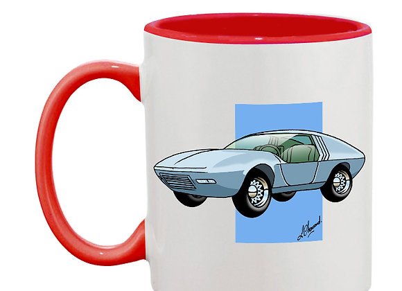 Opel CD concept car mug rouge carré bleu