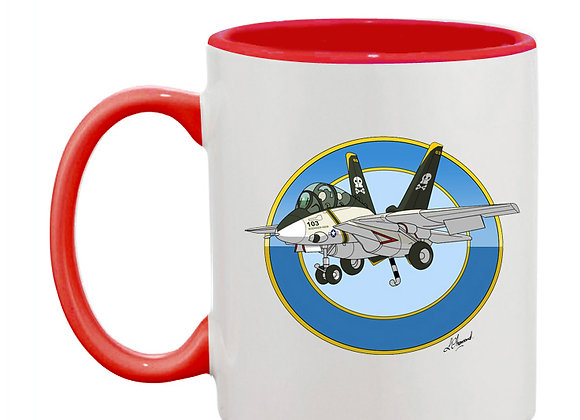 Grumman Tomcat (cartoon) mug rouge rondache