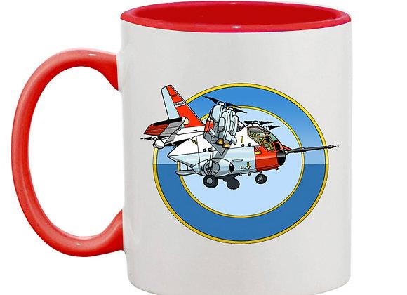 Hiller mug rouge rondache