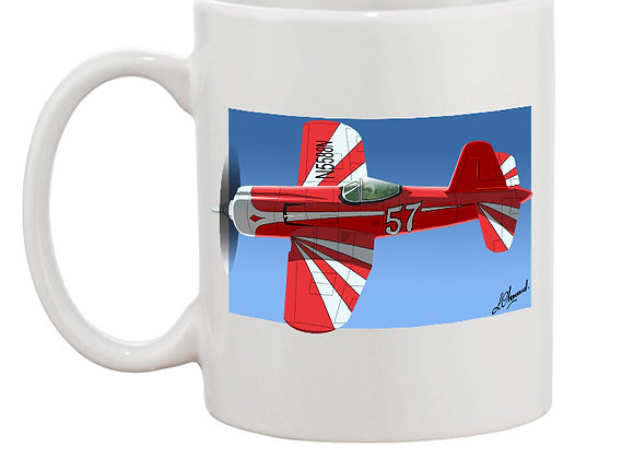 Super Corsair mug blanc carré foncé