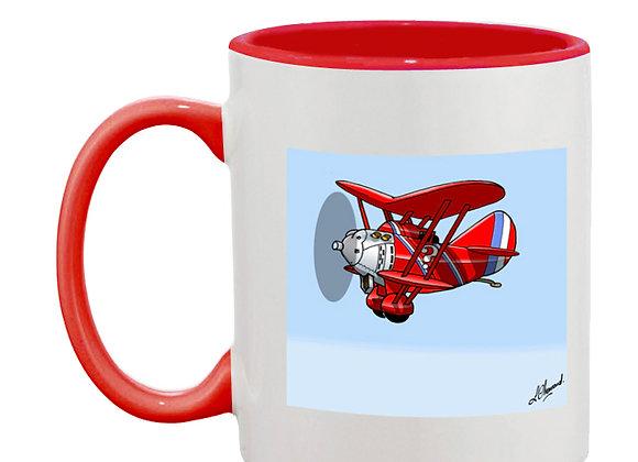Breguet 19 mug rouge carré bleu