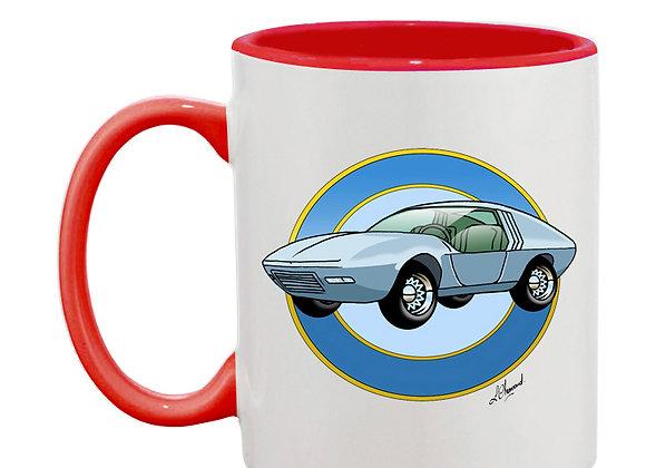 Opel CD concept car mug rouge rondache claire