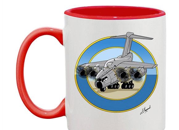 A 400 M mug rouge rondache