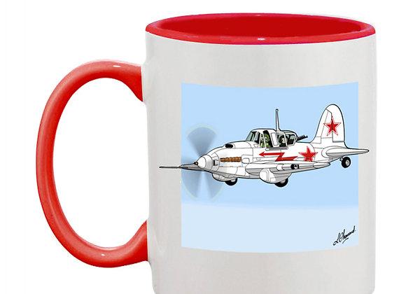Sturmovik mug rouge blanc carré