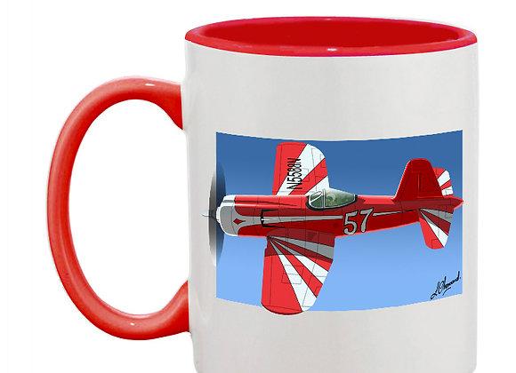 Super Corsair mug rouge carré foncé