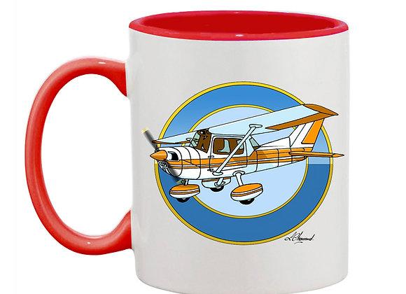 Cessna 150 mug rouge rondache