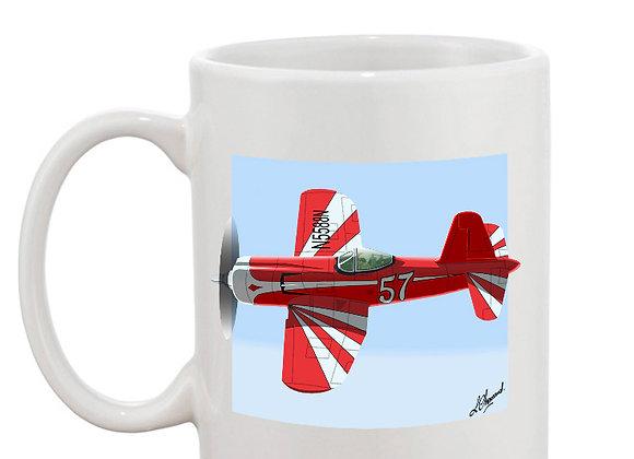 Super Corsair mug blanc carré clair