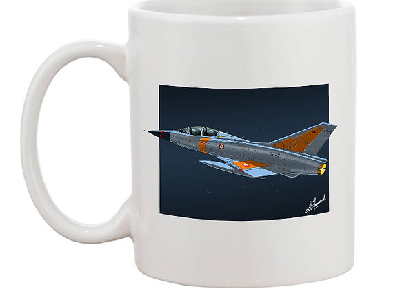 Mirage III essais en vol mug blanc carré nuit