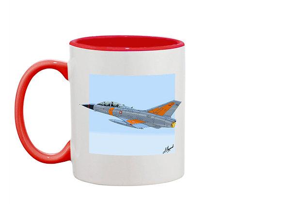 Mirage III mug rouge carré bleu