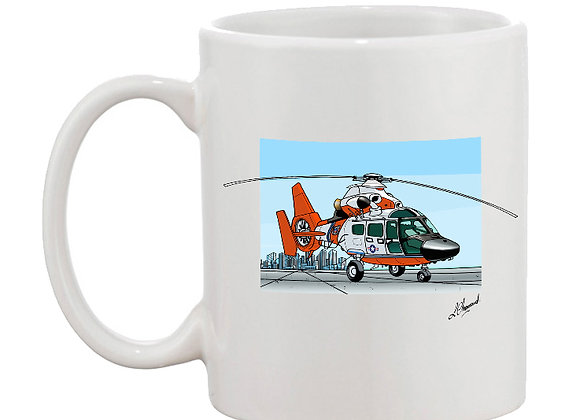 Dauphin mug blanc décor