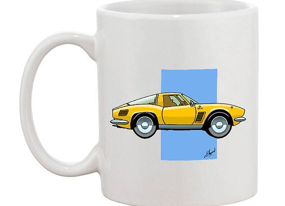 Iso Griffo mug blanc carré bleu
