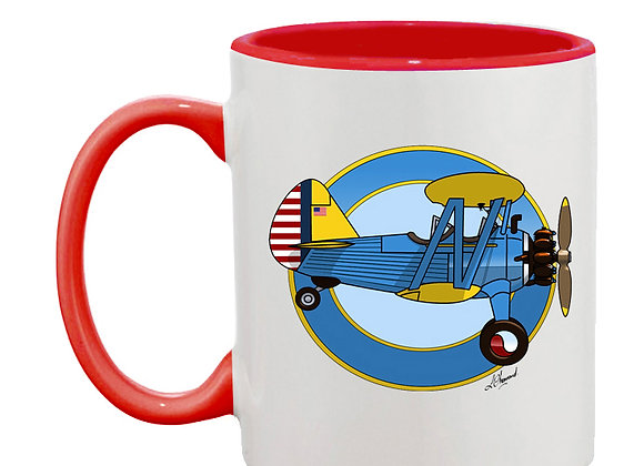 Stearman mug rouge rondache