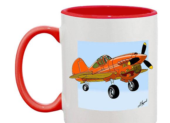 Pumpkin 40 mug rouge carré bleu