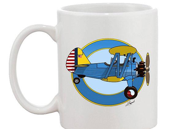 Stearman mug blanc rondache