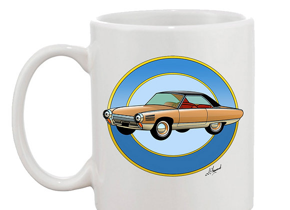 Chrysler turbine mug blanc rondache